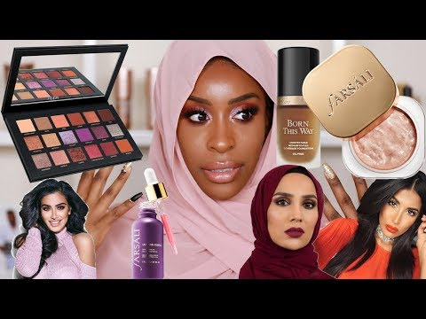 Full Face of Muslim Owned/Halal Beauty Products Tutorial!   Jackie Aina - YouTube