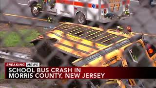 Serious school bus crash in north Jersey