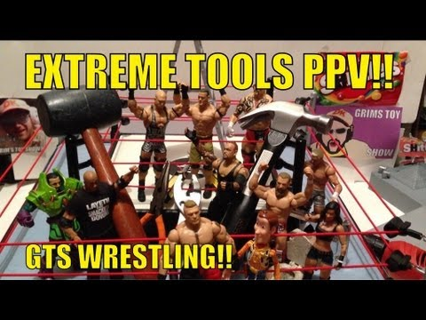 GTS WRESTLING: EXTREME TOOLS ppv WWE action figures matches Mattel Elites basic Match animation