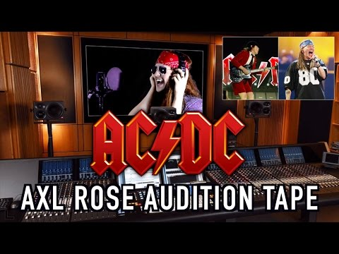 Axl Rose Auditions For AC/DC!