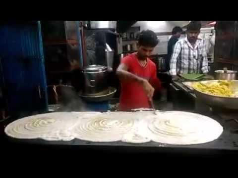 Dosa Making record breaking big South Indian food. Street foods video