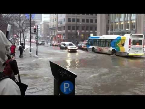 Disaster at McGill January 28 2013 McTavish Street Flooded (Sherbrooke)