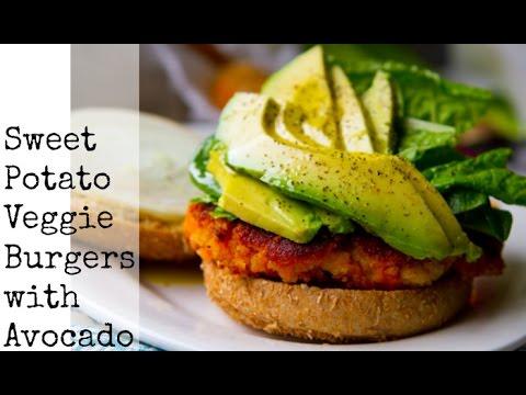 Sweet Potato Veggie Burgers with Avocado - YouTube