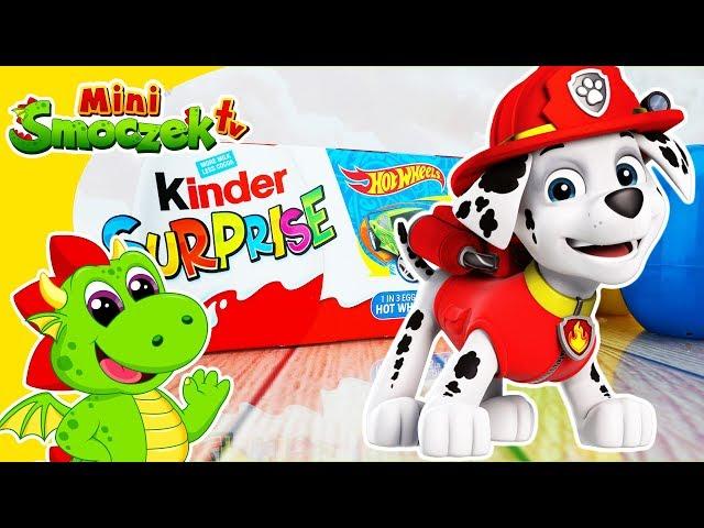 Psi Patrol Marshall, Jajka Kinder Niespodzianki, Auta Hot Wheels, Chase, Zabawki | Filmik Dla Dzieci
