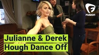 Julianne and Derek Hough Show Us Their Dance Moves