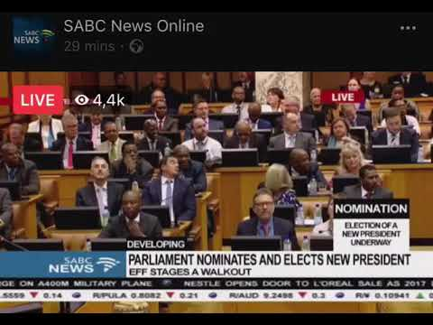 Newly elected president of South Africa Cyril Ramaphosa