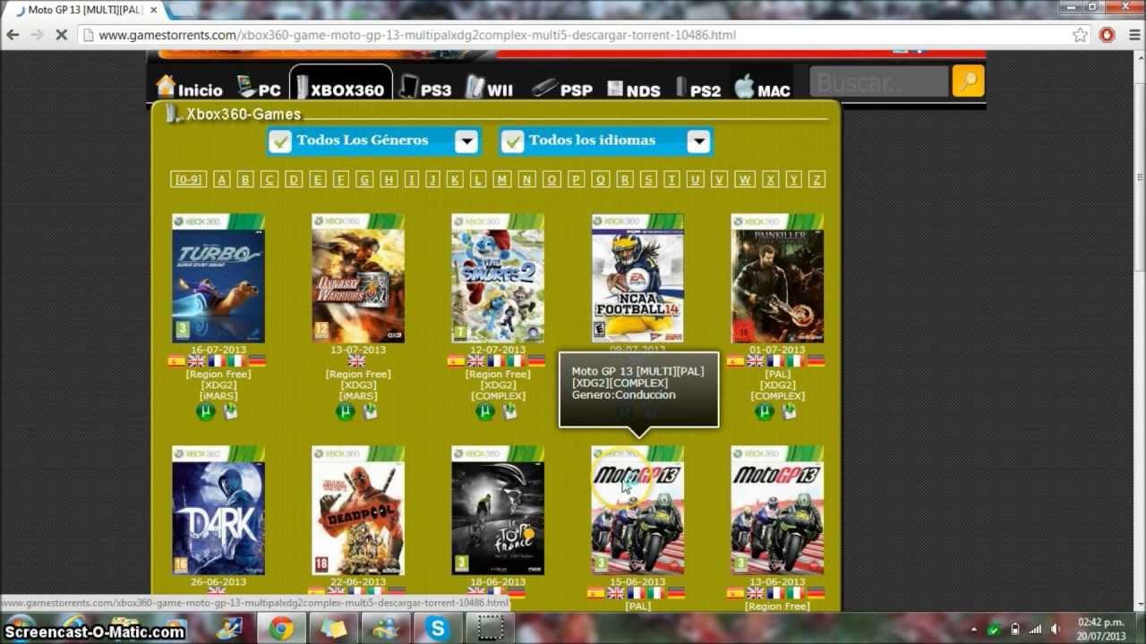 descargar juegos xbox360: