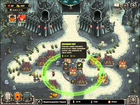 Kingdom Rush Frontiers - Dusk Chateau - 3 Stars Final Boss No Lives Lost