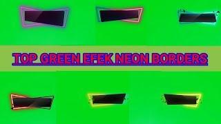 Video intro green screen efek Neon Borders bebas hak cipta