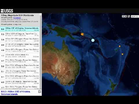 BREAKING NEWS!! M8 3 EARTHQUAKE IN THE SOLOMON ISLANDS