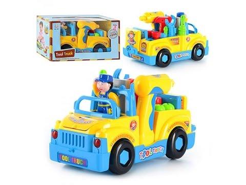 Детская игрушка. Конструктор машинка с набором инструментов. на батарейке (kidtoy.in.ua)