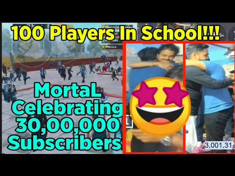 😍MortaL 3 Million Subscribers Special Meetup At School   MortaL 3M Special Party   Mamba, 8bitThug
