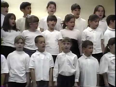 SINGING AT HATHAWAY SCHOOL COMBINED GRADE 3 & 4 CHORUS 1997