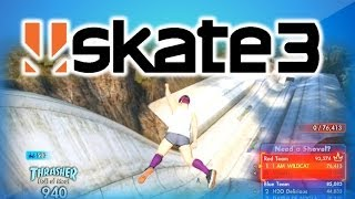 Skate 3 Funny Moments 2 w/ Vanoss, Delirious, and Nogla - Superman, Banana Rocket, Epic Frontflip!