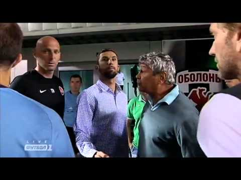 Скандал на матче Оболонь-Бровар - Шахтер