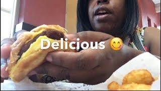 Burger King Breakfast Mukbang   Folded Egg