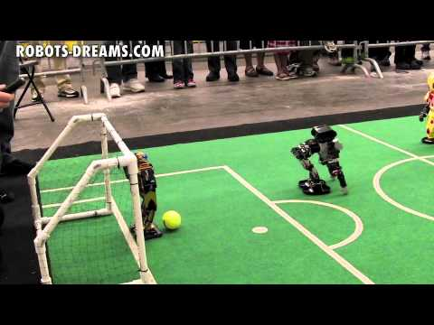 RoboGames 2011 - 3:3 Robot Soccer Final Match - US vs. Japan