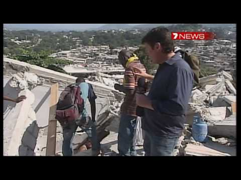 Haiti News - Baby Winnie rescued under rubble with help of Channel Seven Journalist