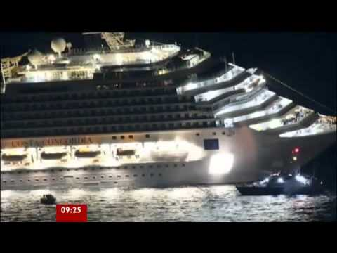 Costa Concordia Cruise ship runs aground in Italy 2012 accident