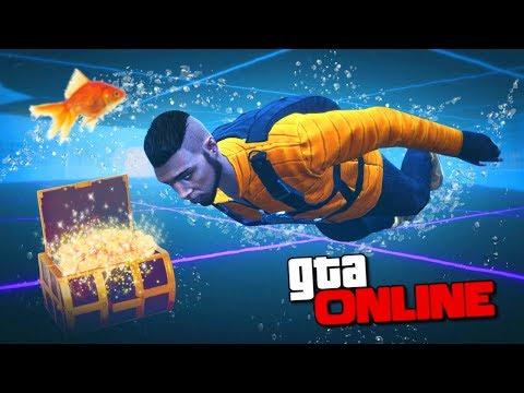 ПОДВОДНЫЙ ЛАБИРИНТ С СОКРОВИЩЕМ! - ГОНКИ GTA 5 ONLINE ( ГТА 5 ГОНКИ )