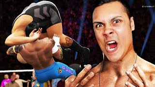 BREAKING THE WWE WRESTLING RING :O (WWE 2K16 Funny Moments)