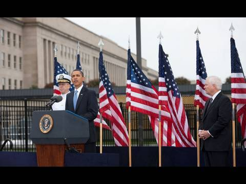 President Obama Speaks at the Pentagon Memorial on 9/11/09