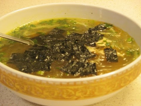 Как приготовить китайский суп с прозрачной лапшой.