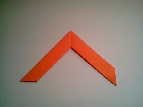 Como hacer un boomerang de papel arma de origami