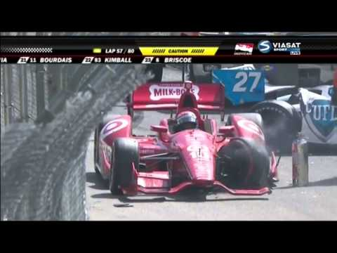 Verizon IndyCar 2014. Grand Prix of Long Beach. Ryan Hunter-Reay's Pile-up