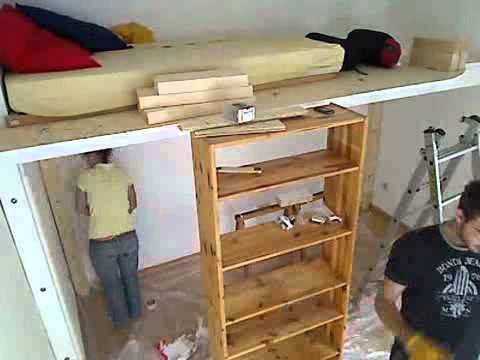 hochbett bauen 2 youtube. Black Bedroom Furniture Sets. Home Design Ideas