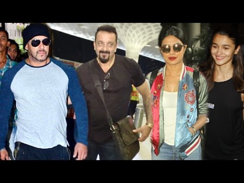 IIFA Awards 2016 | Salman Khan,Sanjay Dutt,Priyanka Chopra,Alia | Airport Departure & Arrival