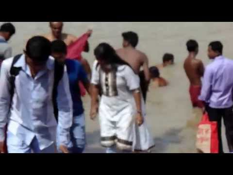 Girls And Boys Are Came From River And Somebody Bathing In Water video