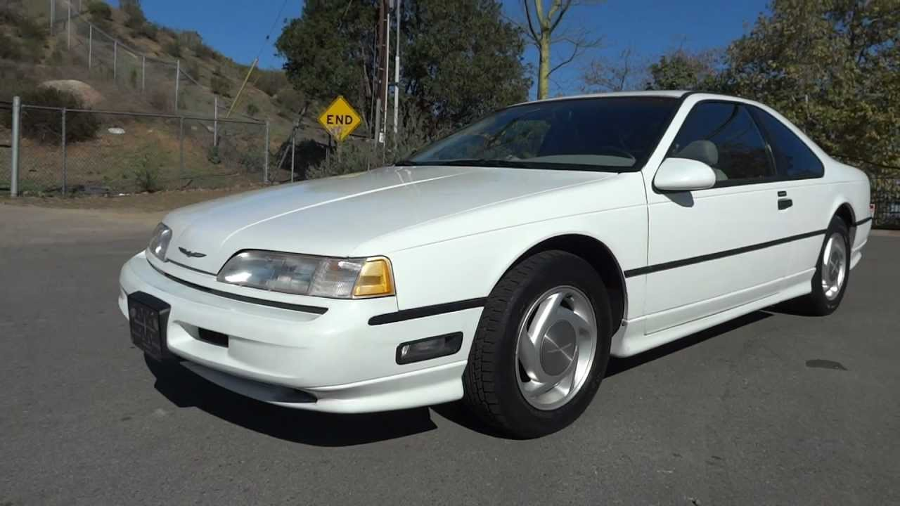 1989 ford thunderbird sc super coupe 3 8 supercharged luxury muscle car youtube