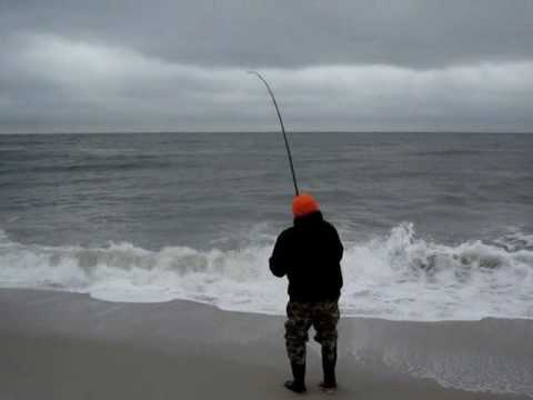 Surf Fishing with Pat and Bob at Island Beach State Park - New Jersey .PATSURF.wmv