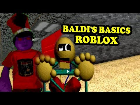 BALDI'S BASICS FULL GAME UPDATE Baldi's Basics Roblox Map