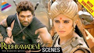 Rudhramadevi Tamil Movie Scenes w/Subtitles | Allu Arjun Helps Anushka | Rana | Nithya Menon