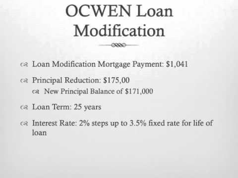 Ocwen financial worksheet pdf