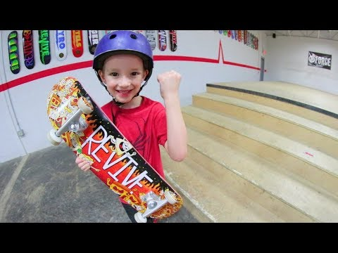 6 Year Old Skate Vs Stair Set!