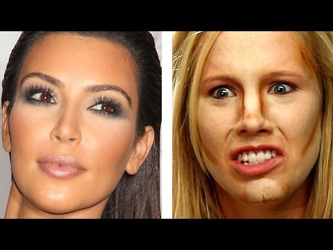 People Try Kim Kardashian Makeup For The First Time video