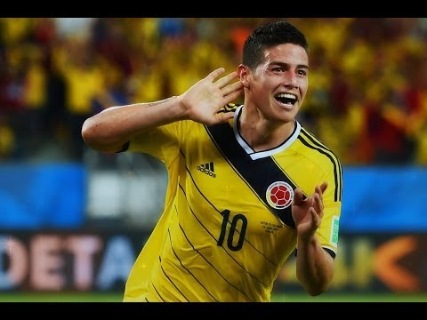 James Rodriguez All Skills & Goals in World Cup 2014 [HD]