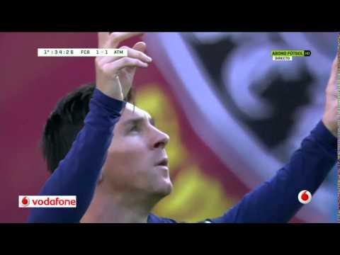 Màn ăn mừng quen thuộc của Messi/ Messi's celebration vs Atletico 30/1/2016