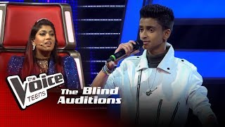Pradeep Rukmal | Ahenawanam Sitha (ඇහෙනවනම් සිත) | Blind Auditions | The Voice Teens Sri Lanka