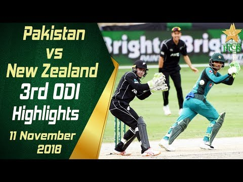 Pakistan Vs New Zealand | 3rd ODI | Highlights | 11 November 2018 | PCB thumbnail