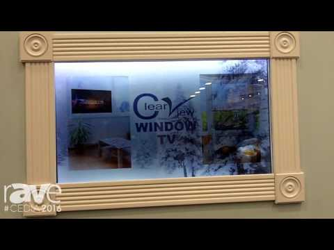 CEDIA 2016: Clear View Introduces Clear View Window TV