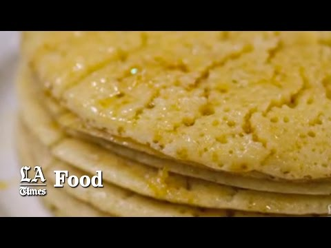 Butter-drenched pancakes from North Africa. Dig in!