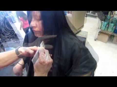 FACE FRAMING Layers Razor Haircut 12 inch Cut off Long Hair Ends VIDEO Phoenix Sun Tagged