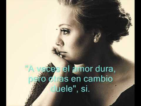 Someone Like You de Adele Traducida al español
