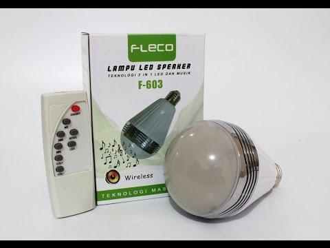 Review Lampu LED Speaker, Fleco. Keren Nih!! Indonesia (LED Bulb Speaker) with Eng CC