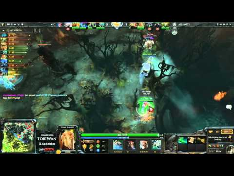 The Alliance vs 4FC   StarLadder VII DOTA2   TobiWan & Capitalist