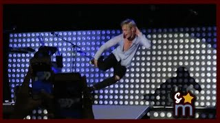 Ross Lynch Sliding Down Stage at End of R5 Concert Greek Theatre